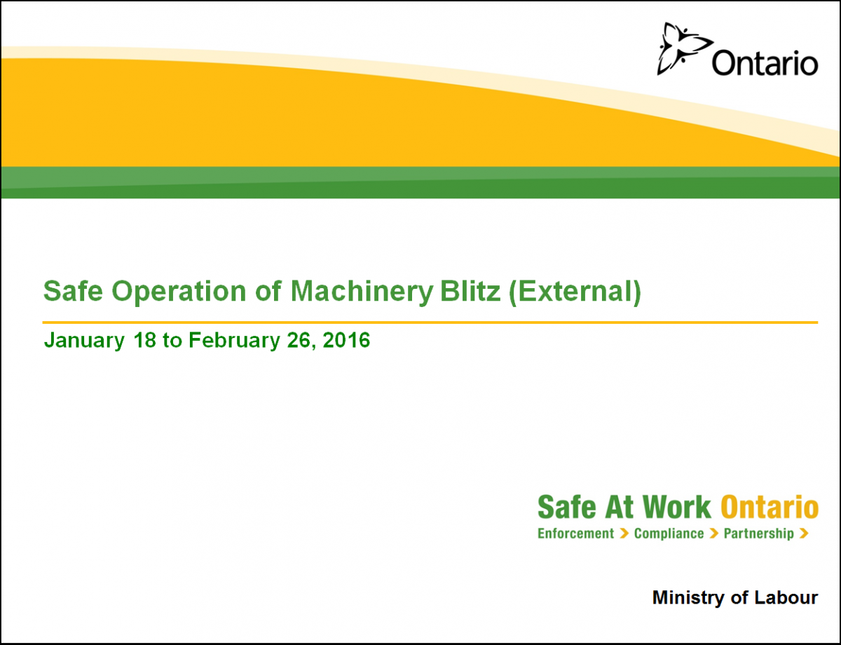 MOL Blitz - Safe Operation of Machinery 2016 presentation cover