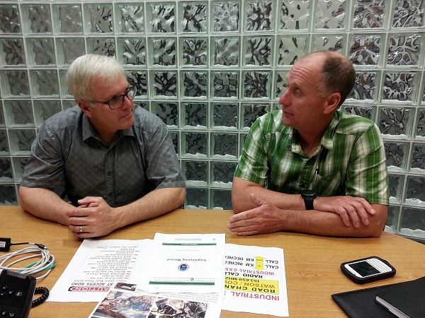 Tom Welton and Steve Bros discuss new signage program