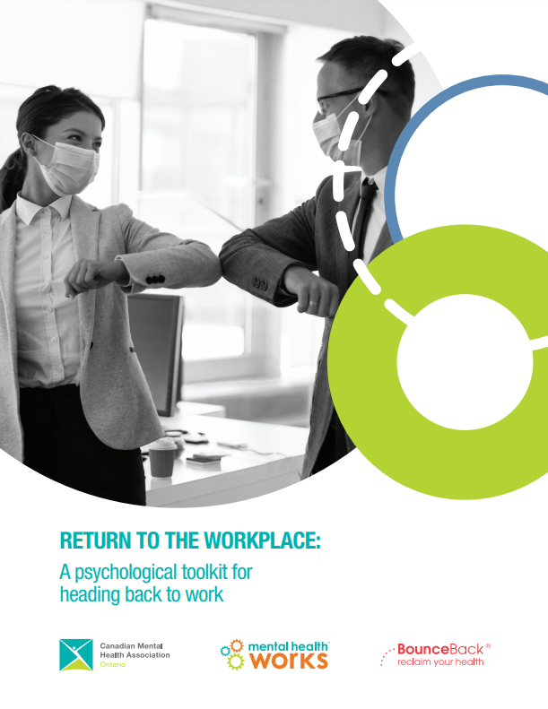 Cover of brochure--return to workplace toolkit from Canadian Mental Health Association