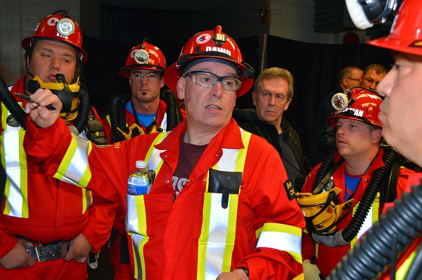 Group of Ontario Mine Rescue volunteers