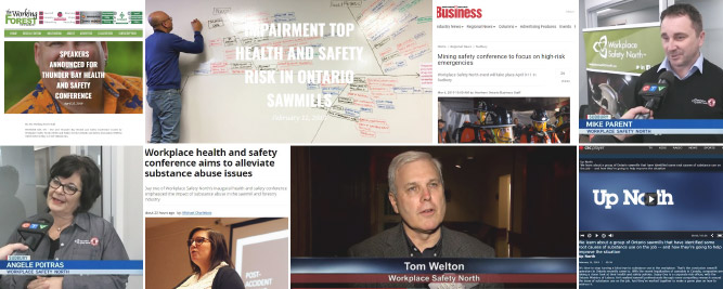 Images of various Workplace Safety North media news clips