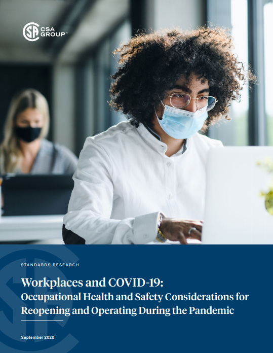 Brochure Cover CSA return to workplace research and best practices